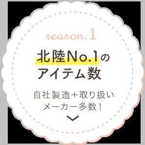 北陸No.1のアイテム数